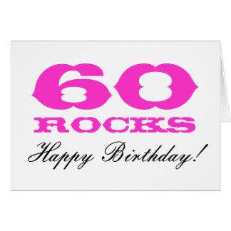 60.o ¡Tarjeta de cumpleaños para las mujeres el | Tarjeta De Felicitación