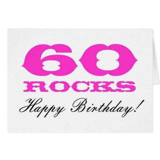 60.o ¡Tarjeta de cumpleaños para las mujeres el   Tarjeta De Felicitación