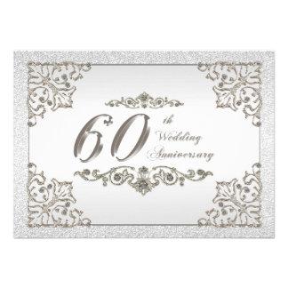 60 o Tarjeta de la invitación del aniversario de b