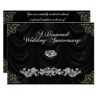 60.o Tarjeta de RSVP del aniversario de boda Invitación 8,9 X 12,7 Cm