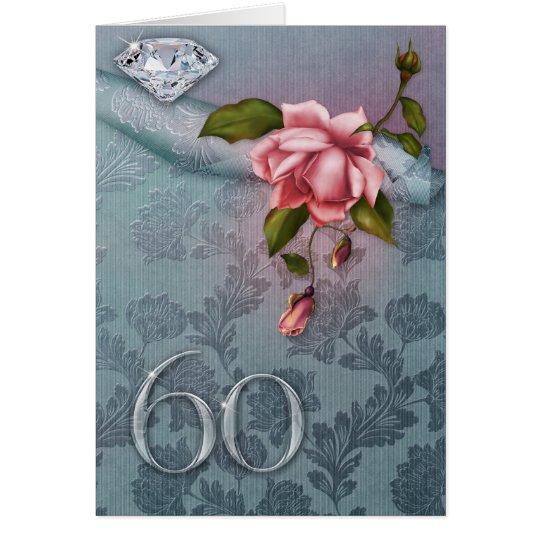 60.o Tarjeta del aniversario de boda