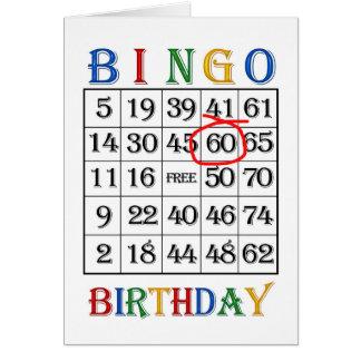 60.o Tarjeta del bingo del cumpleaños