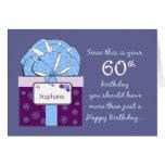 60.o Tarjeta del personalizable del cumpleaños