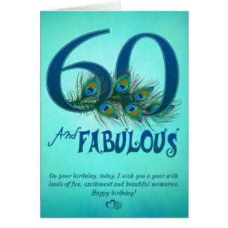 60.o Tarjetas de la plantilla del cumpleaños