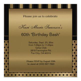 60.o Texto de la fiesta de cumpleaños el | DIY Invitación 13,3 Cm X 13,3cm