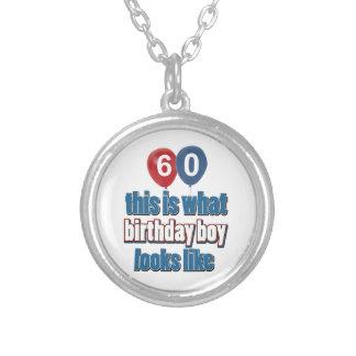 60.os diseños años del cumpleaños pendiente personalizado