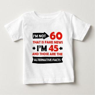 60.os regalos de cumpleaños años camiseta de bebé