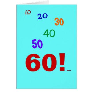 ¡60 y todavía el considerar! tarjeta