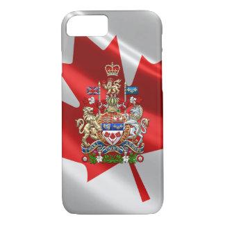 [610] Escudo de armas de Canadá [3D] Funda iPhone 7