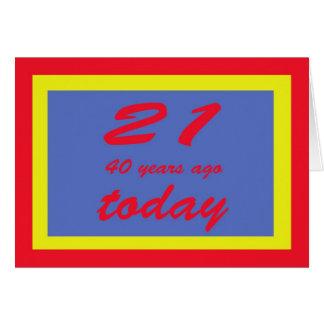 61 años tarjeta de felicitación