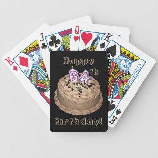 64.a (dando vuelta a sesenta y cuatro) torta de baraja