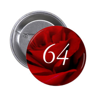 64.o Cumpleaños Chapa Redonda 5 Cm