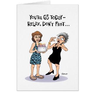 65.a tarjeta de cumpleaños divertida para la mujer