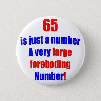 65 es apenas un número chapa redonda de 5 cm