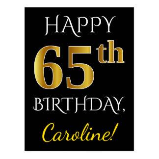 65.o cumpleaños del oro negro, falso + Nombre de Postal