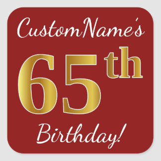 65.o cumpleaños del oro rojo, falso + Pegatina