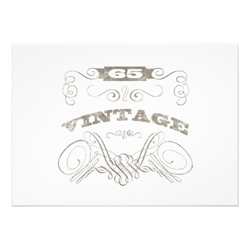 65.o cumpleaños del vintage invitación personalizada