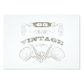65.o cumpleaños del vintage invitación 12,7 x 17,8 cm