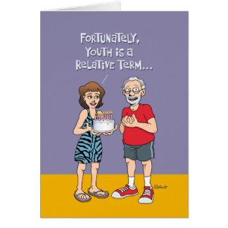 65.o cumpleaños divertido para él tarjeta de felicitación