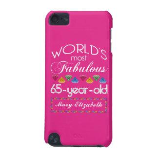 65.o Cumpleaños la mayoría del rosa colorido Funda Para iPod Touch 5