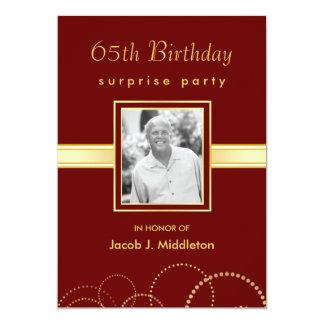 65.o Fiesta de sorpresa del cumpleaños - foto Invitación 12,7 X 17,8 Cm