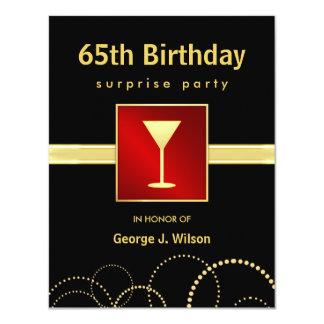 65.o Fiesta de sorpresa del cumpleaños - foto Invitación 10,8 X 13,9 Cm