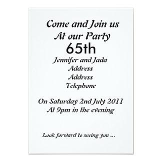 65.o Invitación de la fiesta de cumpleaños
