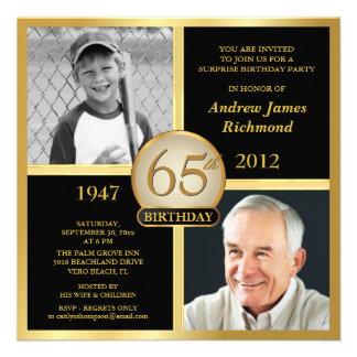65 o Invitaciones del cumpleaños entonces y ahora Invitacion Personal