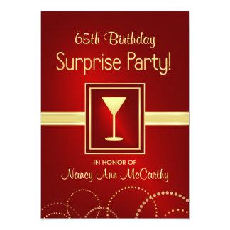 65.o Invitaciones del fiesta de sorpresa del Invitación 12,7 X 17,8 Cm