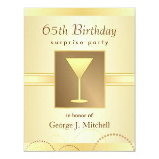 65.o Invitaciones del fiesta de sorpresa del Invitación 10,8 X 13,9 Cm