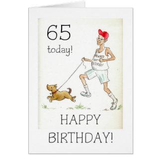 65.o Tarjeta de cumpleaños para un hombre jubilado