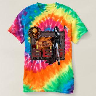 666 señoras tuercen en espiral camiseta del teñido
