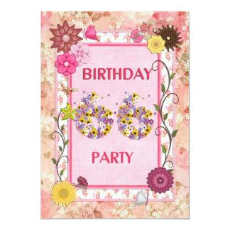 66.a invitación de la fiesta de cumpleaños con el