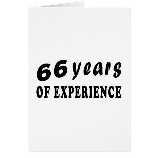 66 años de experiencia tarjeta