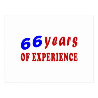 66 años de experiencia tarjeta postal