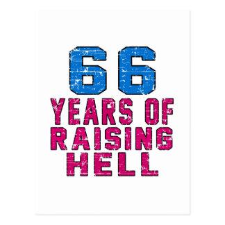 66 años de infierno de aumento postales