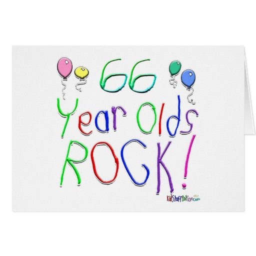 ¡66 años de la roca! tarjeta