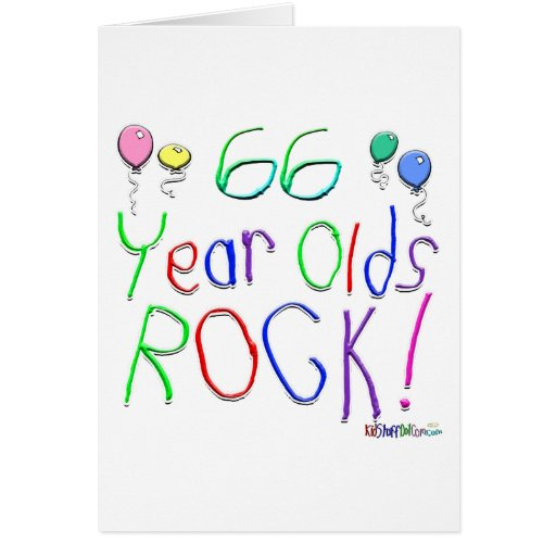 ¡66 años de la roca! Tarjeta de felicitación