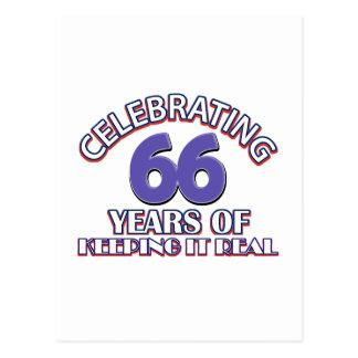 66 años de mantenerlo real postales