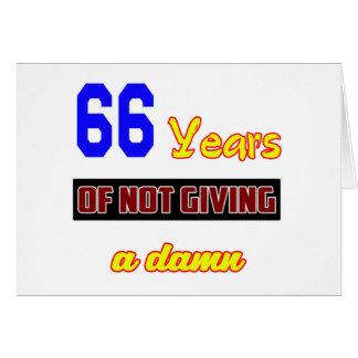 66 años de no dar a tarjeta de felicitación