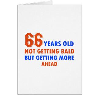 66 años no calvos tarjeta de felicitación