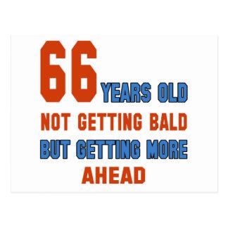 66 años, no consiguiendo calvos postal