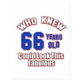 66 años parecen fabulosos postal