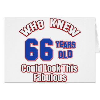 66 años parecen fabulosos tarjeta de felicitación