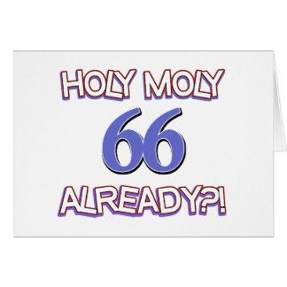 66 años ya tarjeta de felicitación