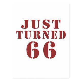 66 apenas dado vuelta postal