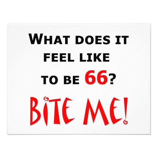 ¡66 muérdame! anuncio