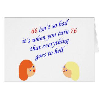 66 no es tan malos tarjeta