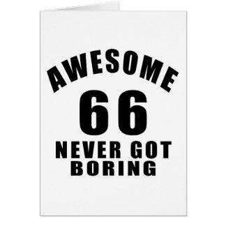 66 nunca conseguidos el taladro tarjeta de felicitación