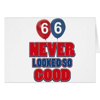 66 nunca parecidos tan buenos tarjeta de felicitación